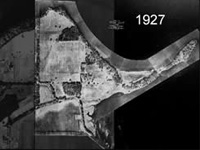 1927 black and white aerial photo.